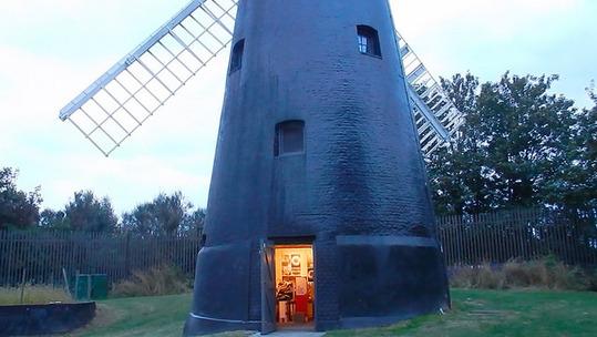 windmill at dusk 2